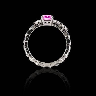 Elsa 粉红蓝宝石戒指