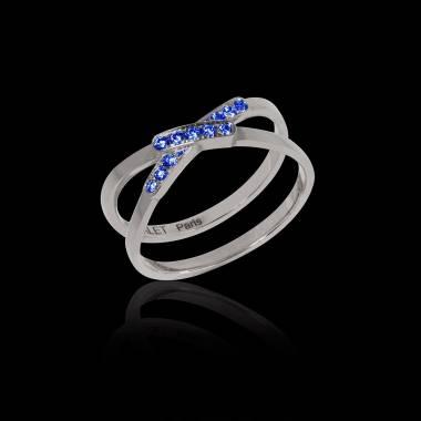 蒂芙尼 蓝宝石戒指