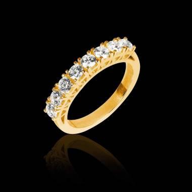 Ceres 18k黄金密镶钻石婚戒