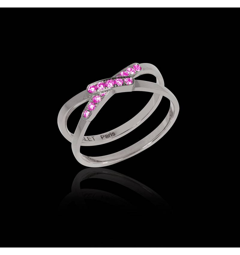 蒂芙尼 粉红蓝宝石戒指