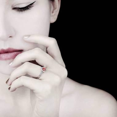 瑞卡 红宝石订婚戒指