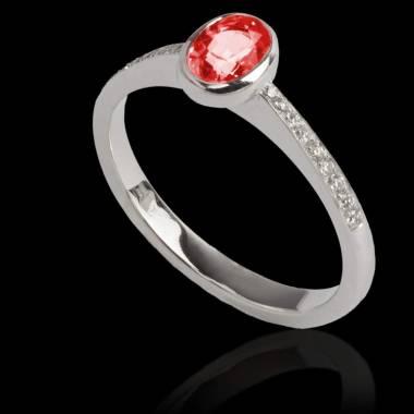 Ovale Moon 红宝石戒指