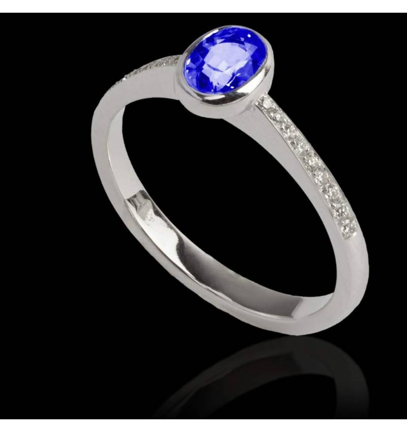 Ovale Moon 蓝宝石戒指