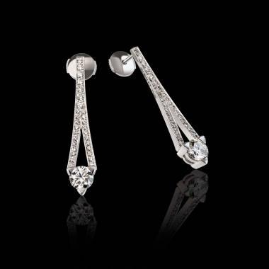 满月 钻石耳环