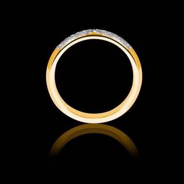 土星 18k黄金 婚戒