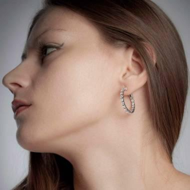 克里奥尔 钻石耳环