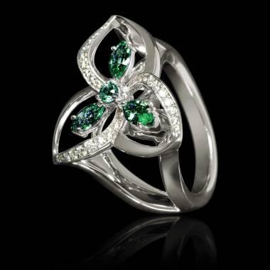 星辰祖母绿戒指