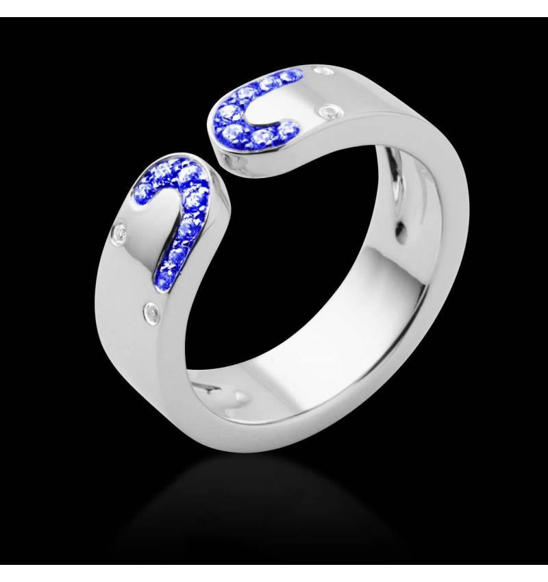 迷惑 蓝宝石戒指