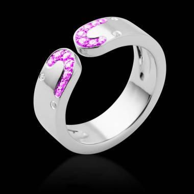 迷惑 粉红蓝宝石戒指