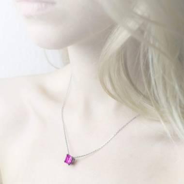 倾慕之爪 粉红蓝宝石戒指