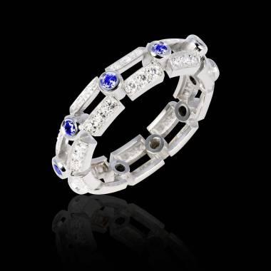大地 蓝宝石戒指