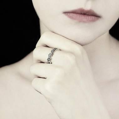 海王星 黑钻戒指