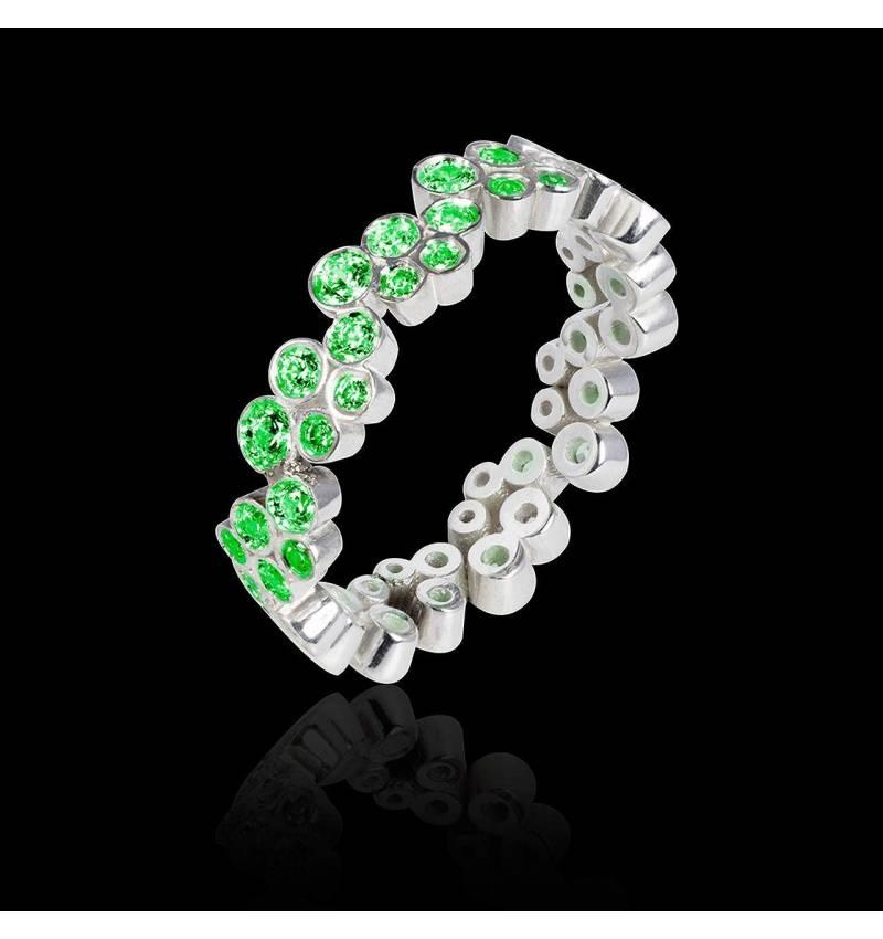 海王星 祖母绿戒指