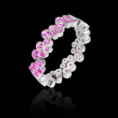 海王星 粉红蓝宝石戒指
