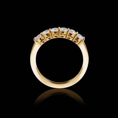 仙后座18k黄金密镶钻石婚戒
