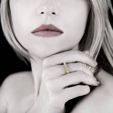 仙后座铂金密镶钻石婚戒