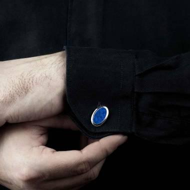 勋章 卵形青金石刻字袖扣