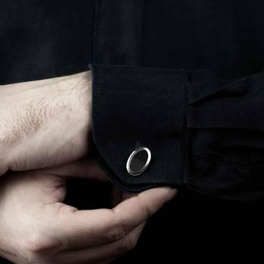 勋章 卵形缟玛瑙刻字袖扣