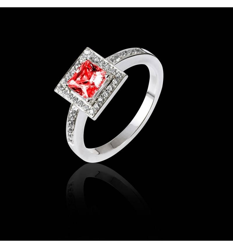佩兰 红宝石订婚戒指
