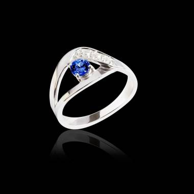 安娜艾拉 蓝宝石订婚戒指