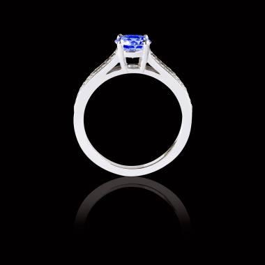玛丽 蓝宝石订婚戒指