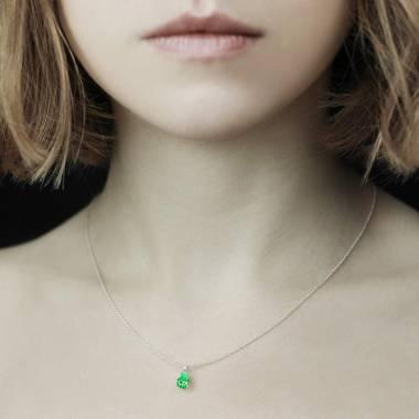 水滴之爱 祖母绿项链