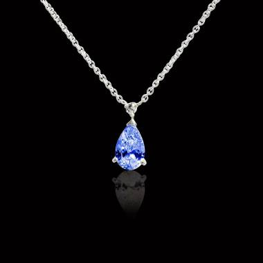 水滴之爱 蓝宝石项链