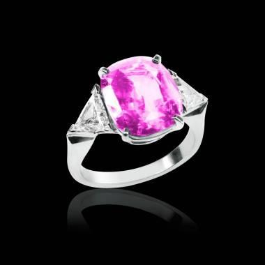 斯蒂芬妮 粉红蓝宝石戒指