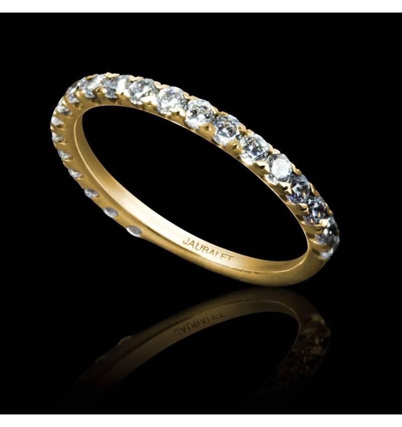 Emilie18K黄金钻石密镶婚戒