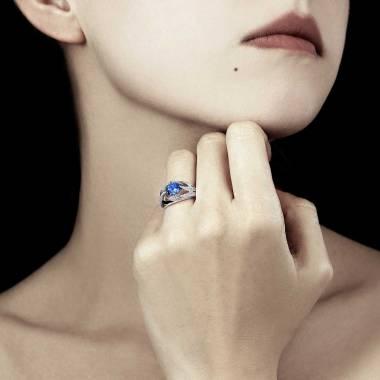 Bague saphir bleu Ophélie
