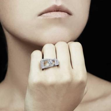Bague diamant Romanesque