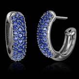 红树林 蓝宝石耳环