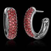红树林 粉红蓝宝石耳环