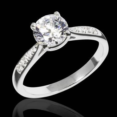 Angela K金钻石密镶订婚戒指