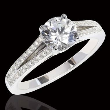 玛丽 钻石订婚戒指