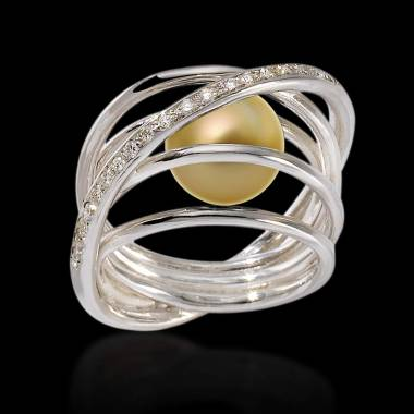 Cache金珍珠戒指