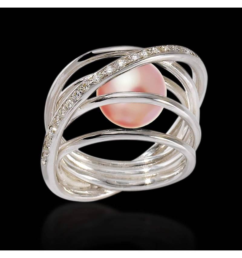 Cache 粉色珍珠戒指