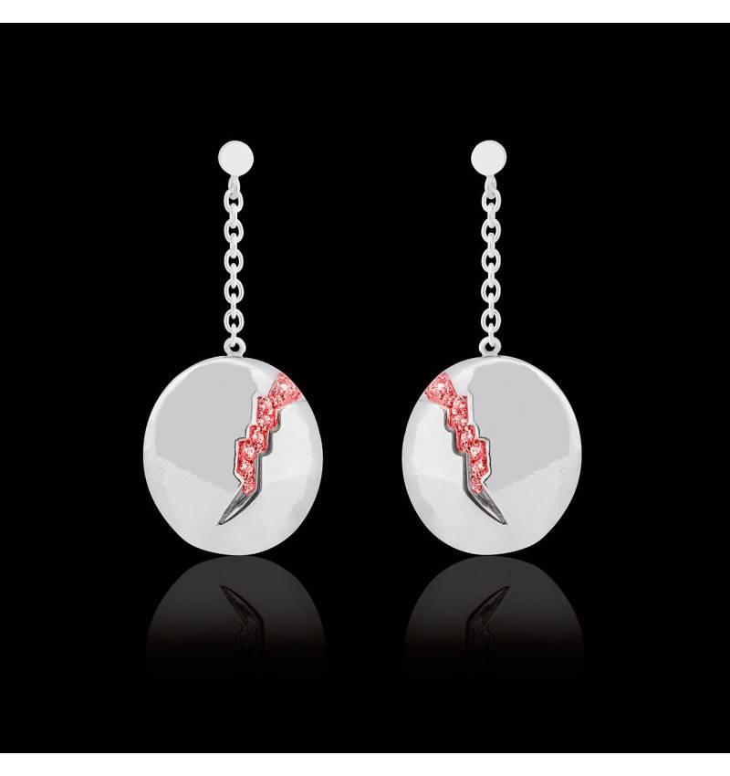 Quake 红宝石耳环