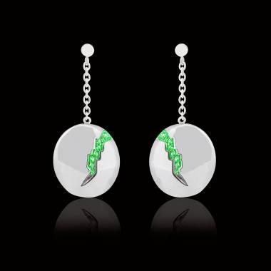 Quake 祖母绿耳环