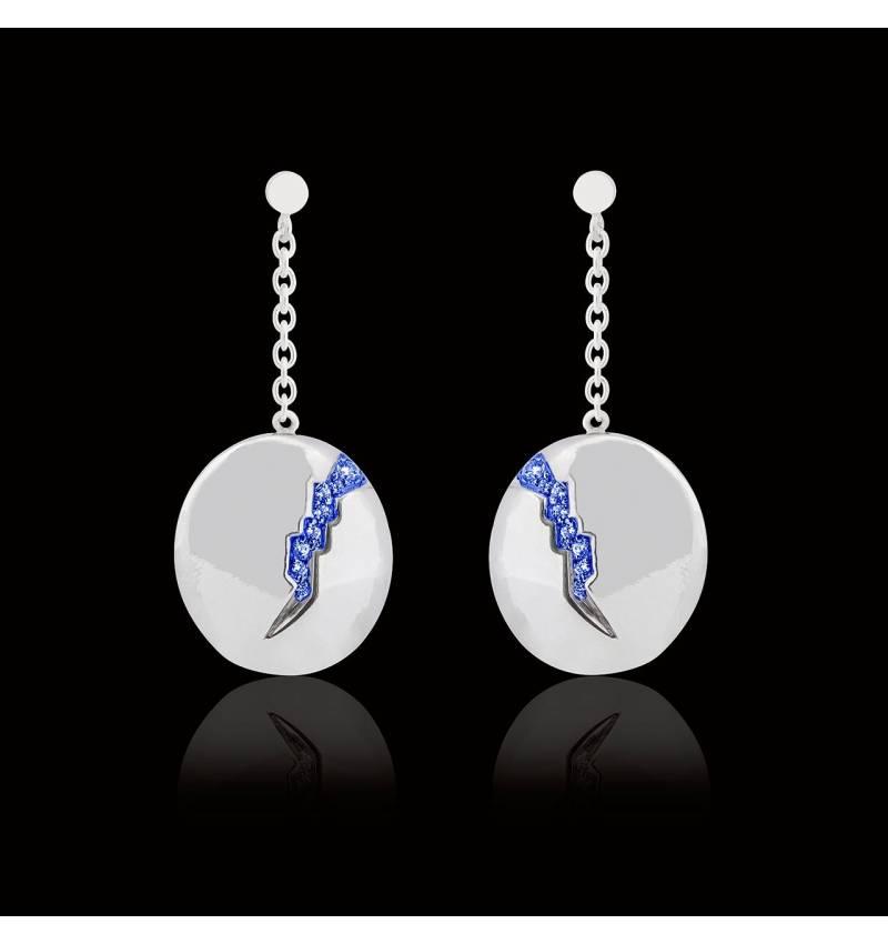 Quake 蓝宝石耳环