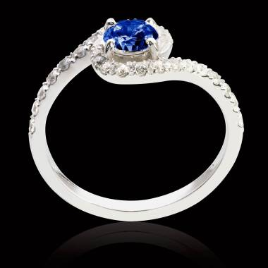 Bague saphir bleu Lilou