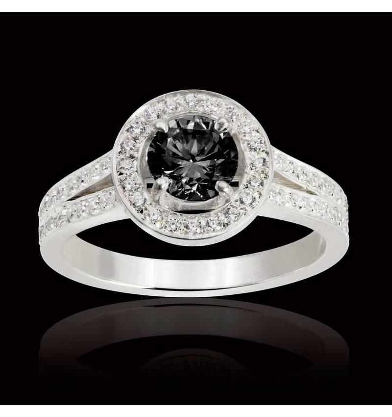 Bague diamant noir Sarah