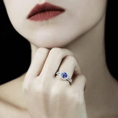 Bague saphir bleu Sarah