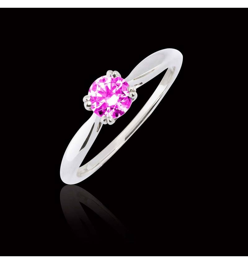Bague saphir rose Laureen solo