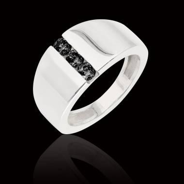 Bague diamant noir Emma