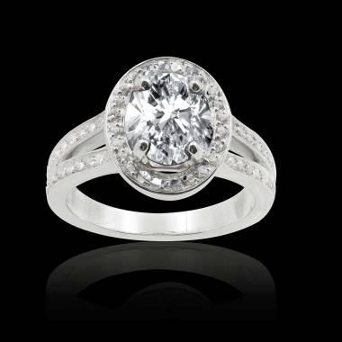 Bague diamant ovale Sarah