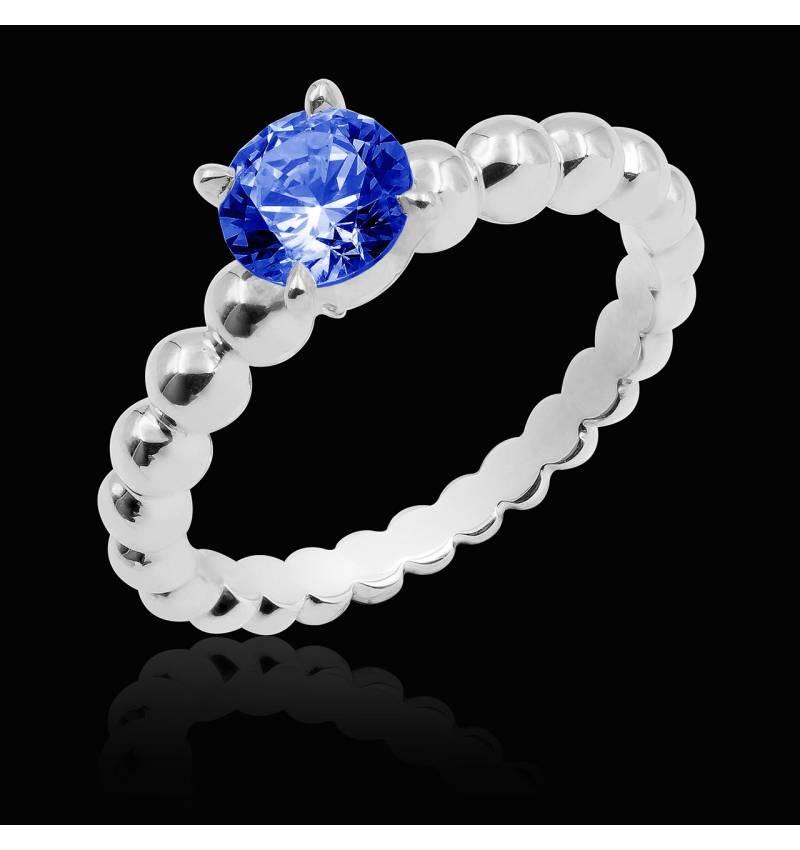 Bague saphir bleu Perle