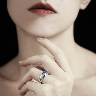 Bague saphir bleu Léa
