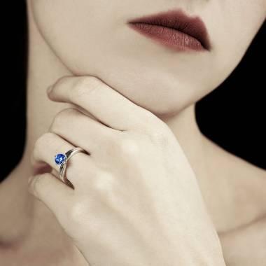 Bague saphir bleu Alicia