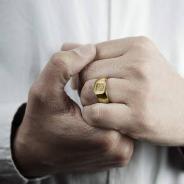 Chevalière or jaune Maxime